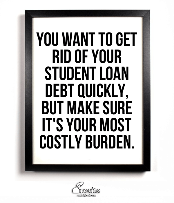 dig out of student loan debt